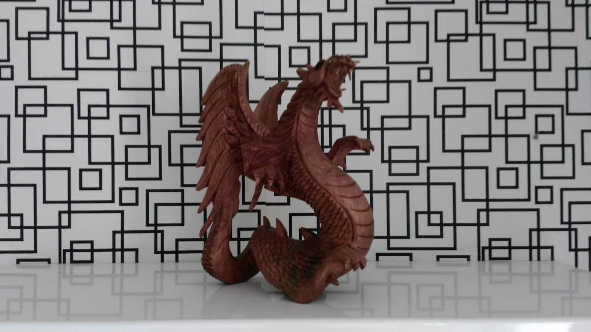 Brown Dragon Figurine