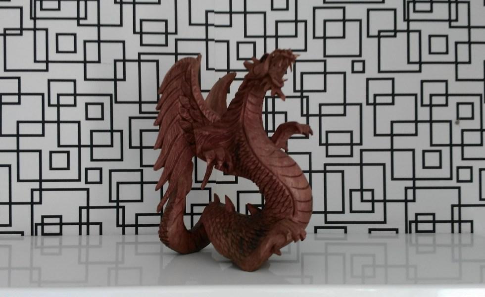 Brown Dragon Figurine