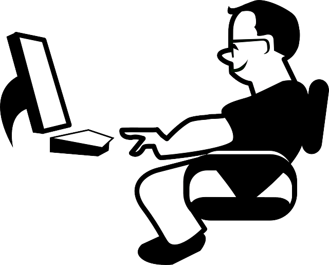 man working at the computer