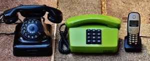 retro phones and cell phones