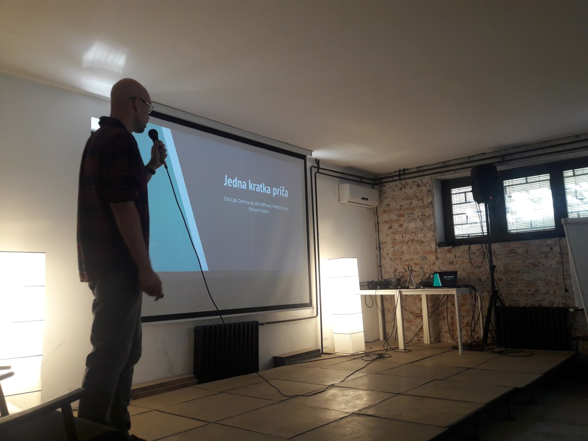 Holding the intro presentation