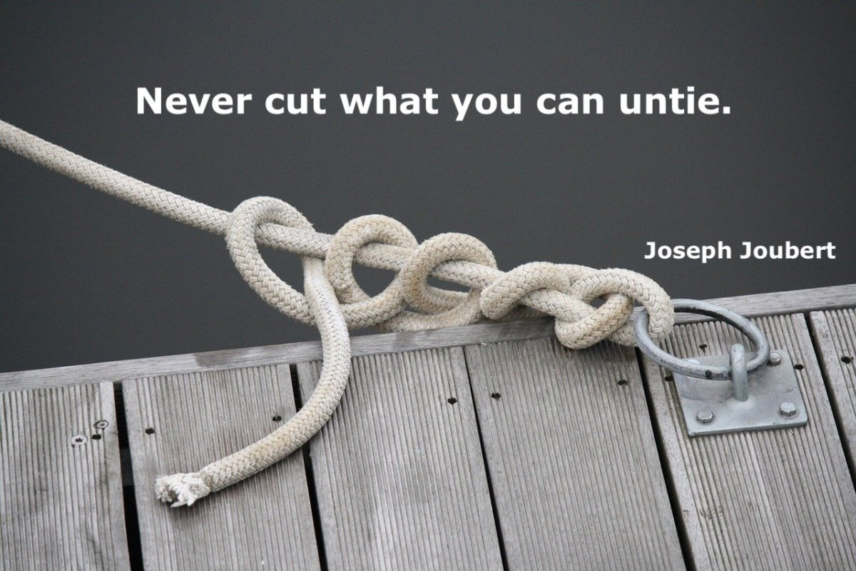 a knot and a quote