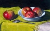 Apples, oils on canvas, 20x30 cm