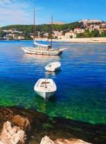 Sunny Island of Hvar (a detail), oil on canvas, 70x140 cm