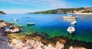 Sunny Island of Hvar, oil on canvas, 70x140 cm