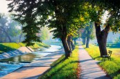 Strolling Down the River, oil on canvas, 50x75 cm, 2015