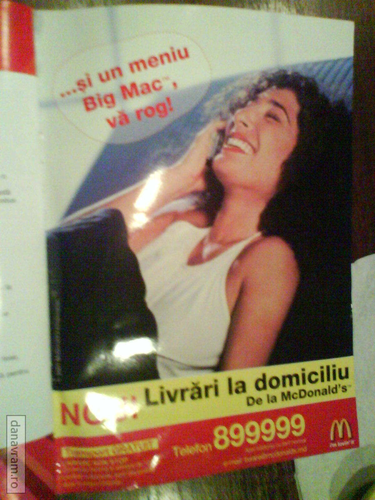 Chişinău - Comenzi McDonald's la domiciliu