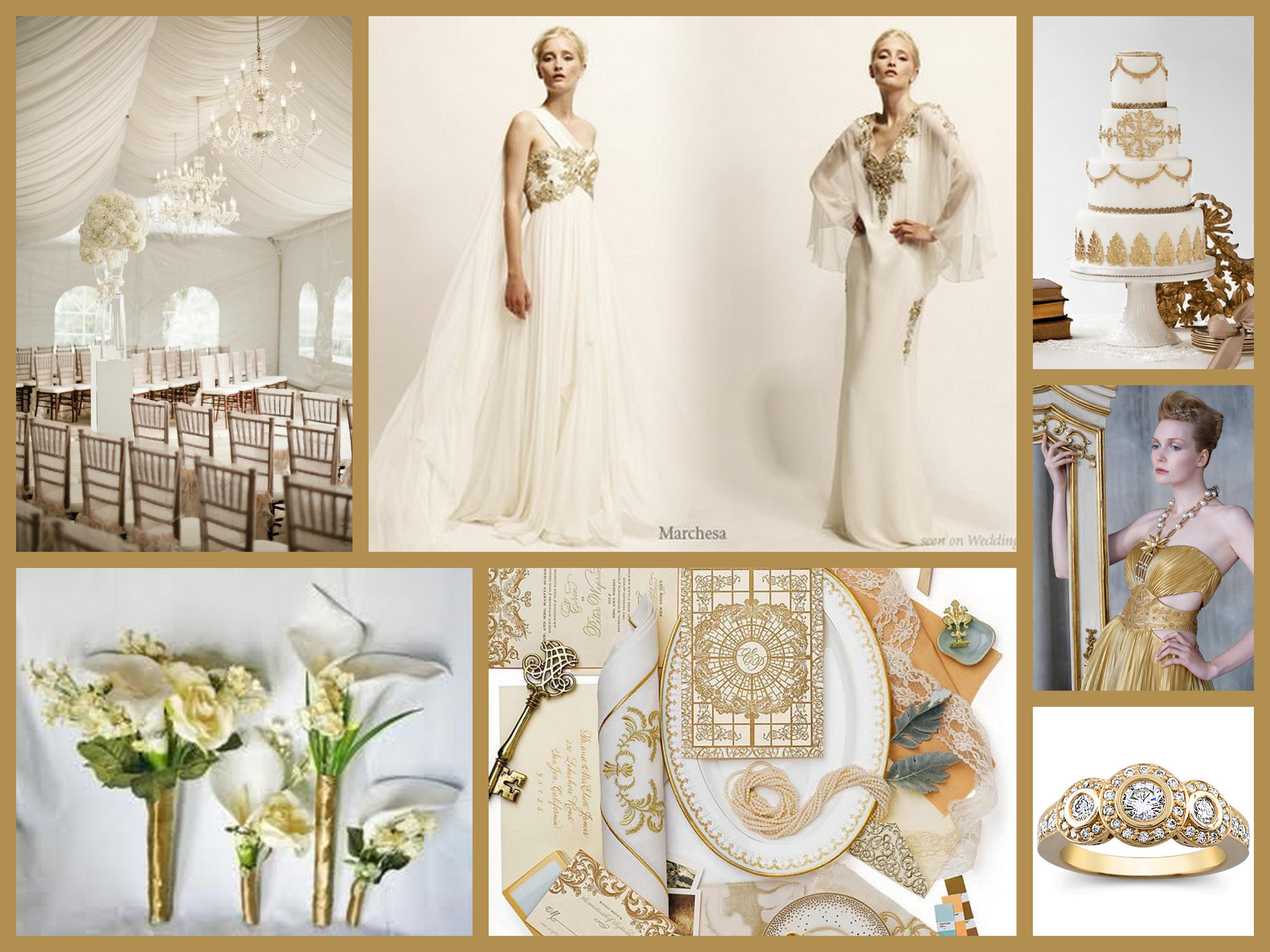 White Gold Goddess Wedding Inspiration  Fantastical