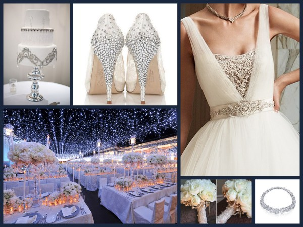 Starry Glamour Fantastical Wedding Stylings