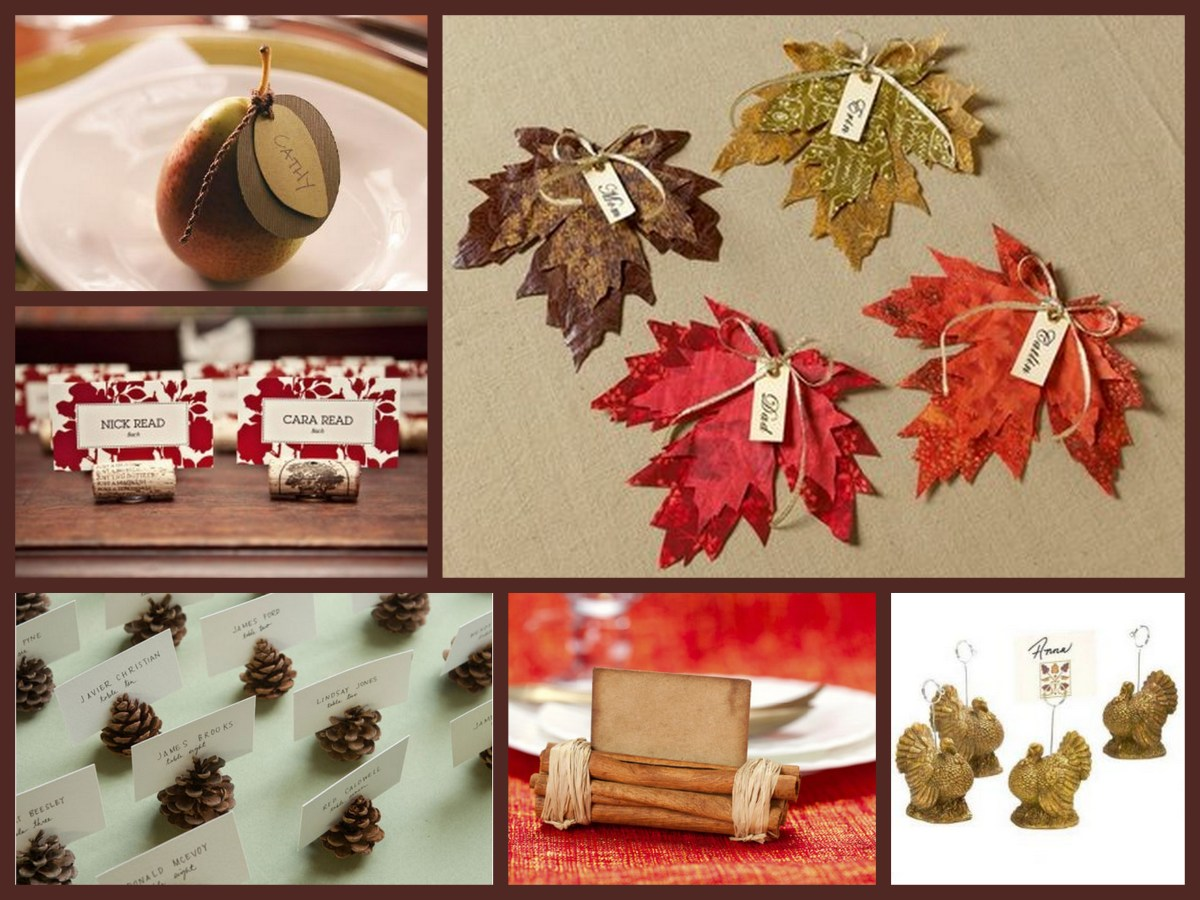 Thanksgiving 101 Place Card Holders Fantastical Wedding Stylings