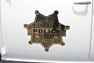 Police department logo: Pacific Grove classic police car