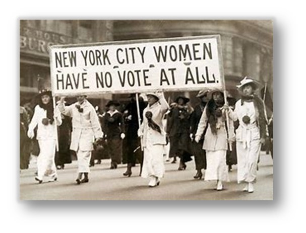 WOMENS VOTE ALMOST NEVER HAPPENED
