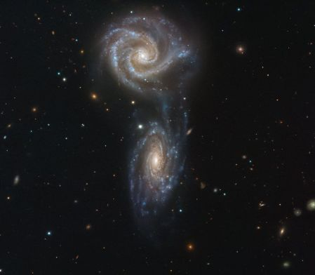 A VIEW FROM ABOVE TWO GALAXY'S