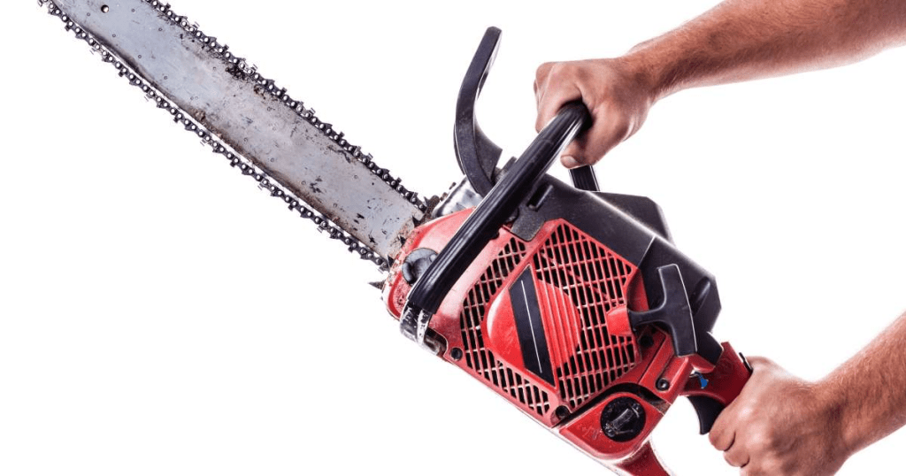 CRAZY MAN WITH CHAINSAW GETS OWNED (VIDEO)