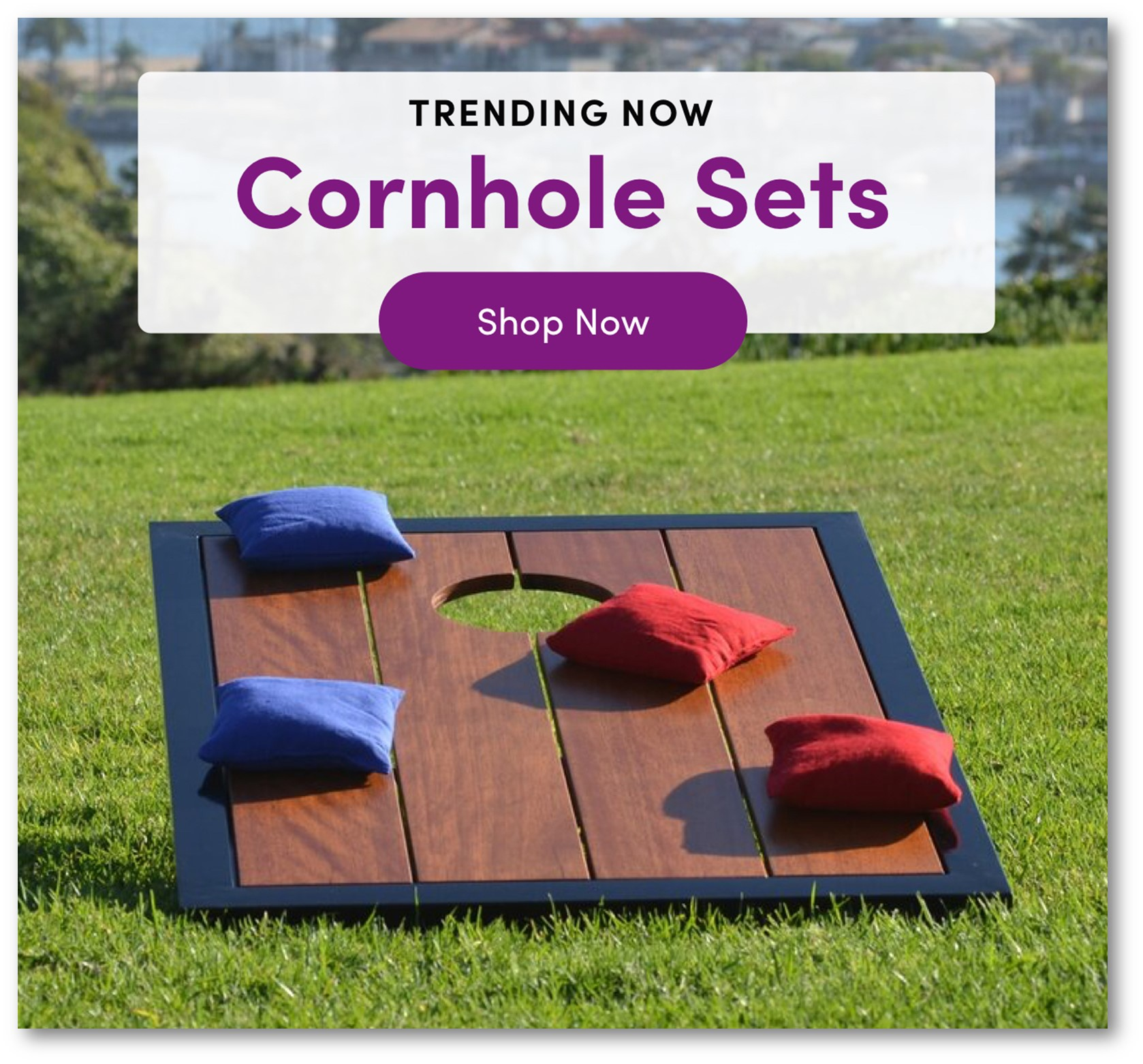 NOW TRENDING CORN HOLE SETS FOR THE MONDERN MAN