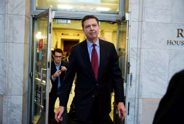 COMEY APPEARS TODAY BEFORE SENATE COMMITTEE