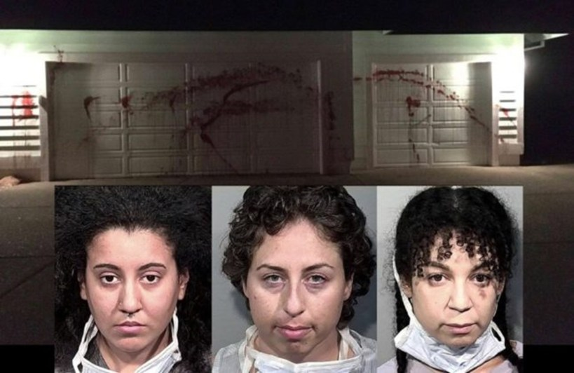 DIPSHIDIOT WOMEN ARRESTED FOR THROWING BLOOD ON OFFICERS HOUSE.