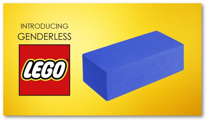 SATIRE POST OF THE DAY: LEGO GOES GENDERLESS