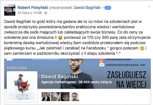 dawid bagiński opinie