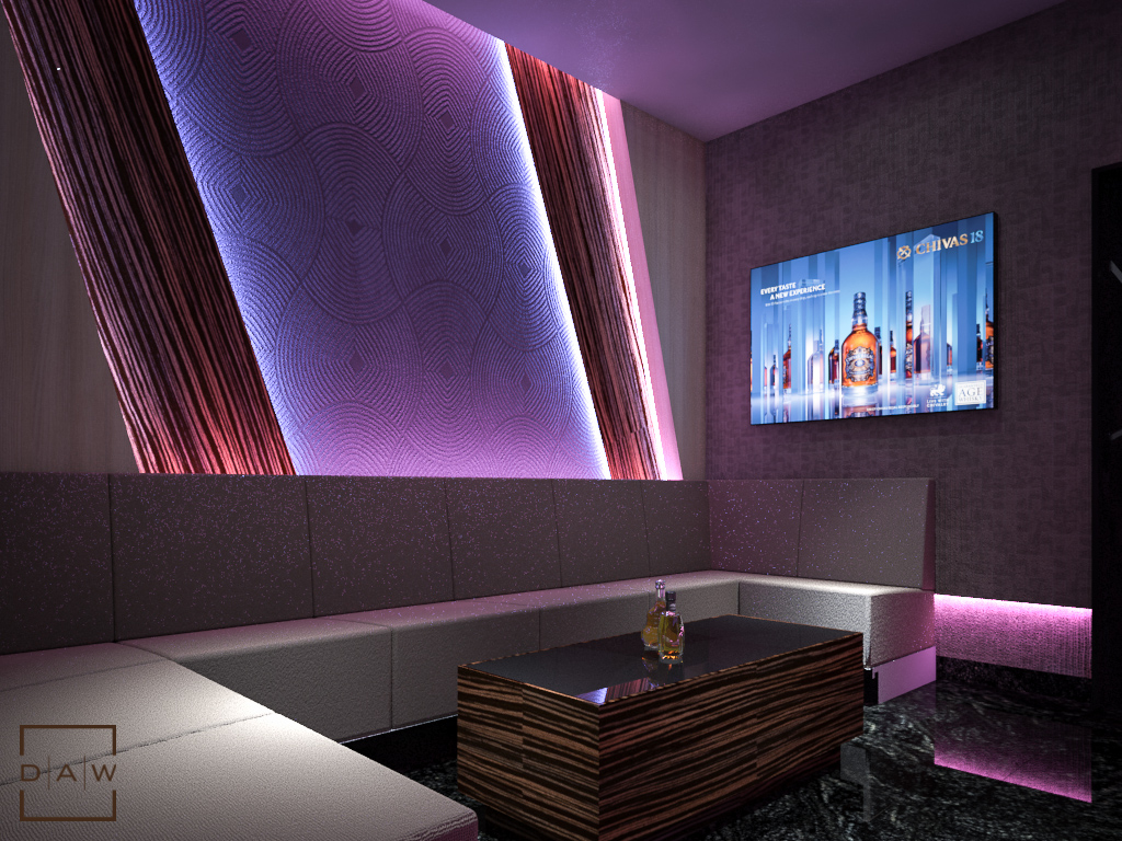 XQ Executive  Private lounge  karaoke  DAW Interior
