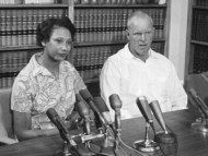 Subject: Richard P. Loving and African American Wife Date: 6/13/1967 Photographer: Frank Miller OWNED