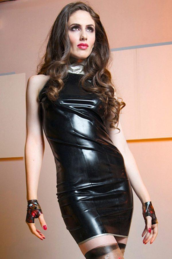 Glitter Collar Dress  Dawnamatrix Latex Clothing