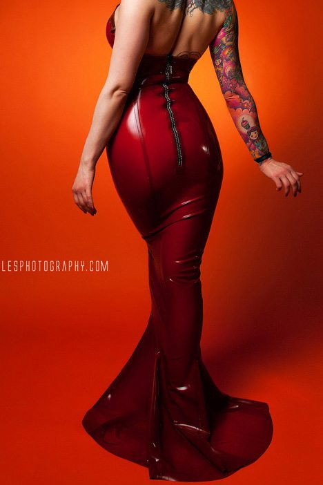 Underwire Halter Gown  Dawnamatrix Latex Clothing
