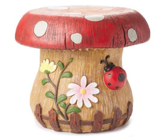 Ladybug Mushroom Stool
