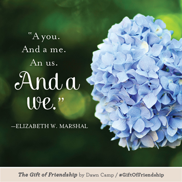 Elizabeth Marshall The Gift of Friendship #GiftofFriendship
