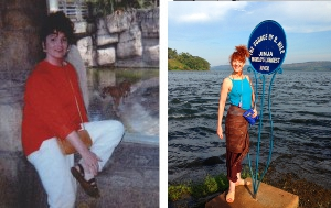 Lisa before hypnotic treatment and Lisa as she is today.