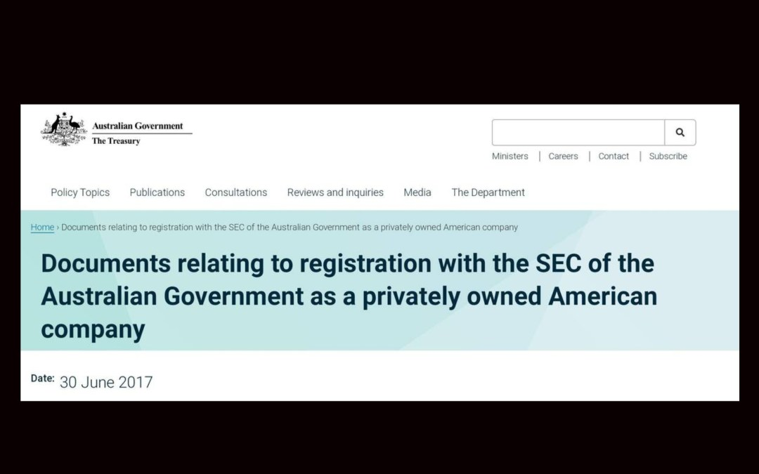The Australian Government is a Privately Owned American Company!