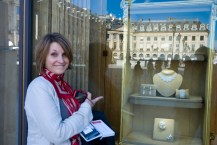 At the Place Vendôme where the luxury jewelry and watches are on display.