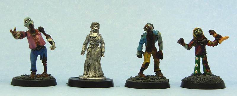 From left to right: Games Workshop, Recreational Conflict, Copplestone Castings, Mega Miniatures