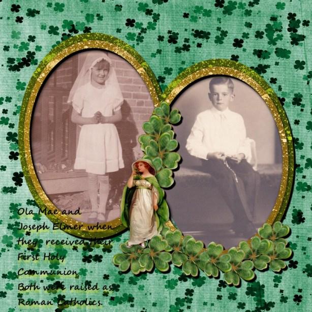 Grandma Ola & Grandpa Elmer, at their Holy Communion celebration. Both were Roman Catholic.