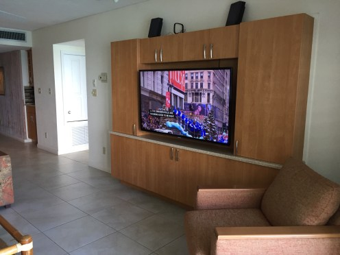 "60""+ T.V. in Living Room"