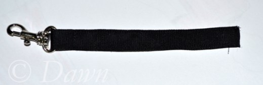 Key strap before installing inside the bag
