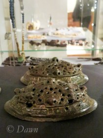 Tortoise brooches from a Viking female grave