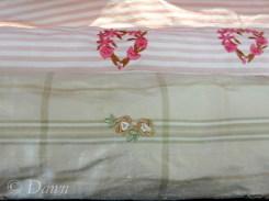Embroidered silks at Gala Fabrics