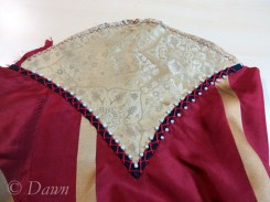 Adding pearls to the embellished trim