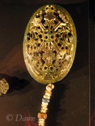 Close up on the oval brooch