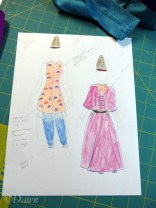 concept sketch for the costume