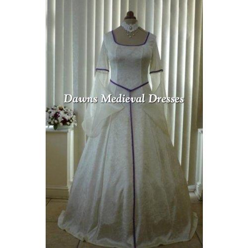 Pagan Medieval Cream Handfasting Wedding Dress Medieval