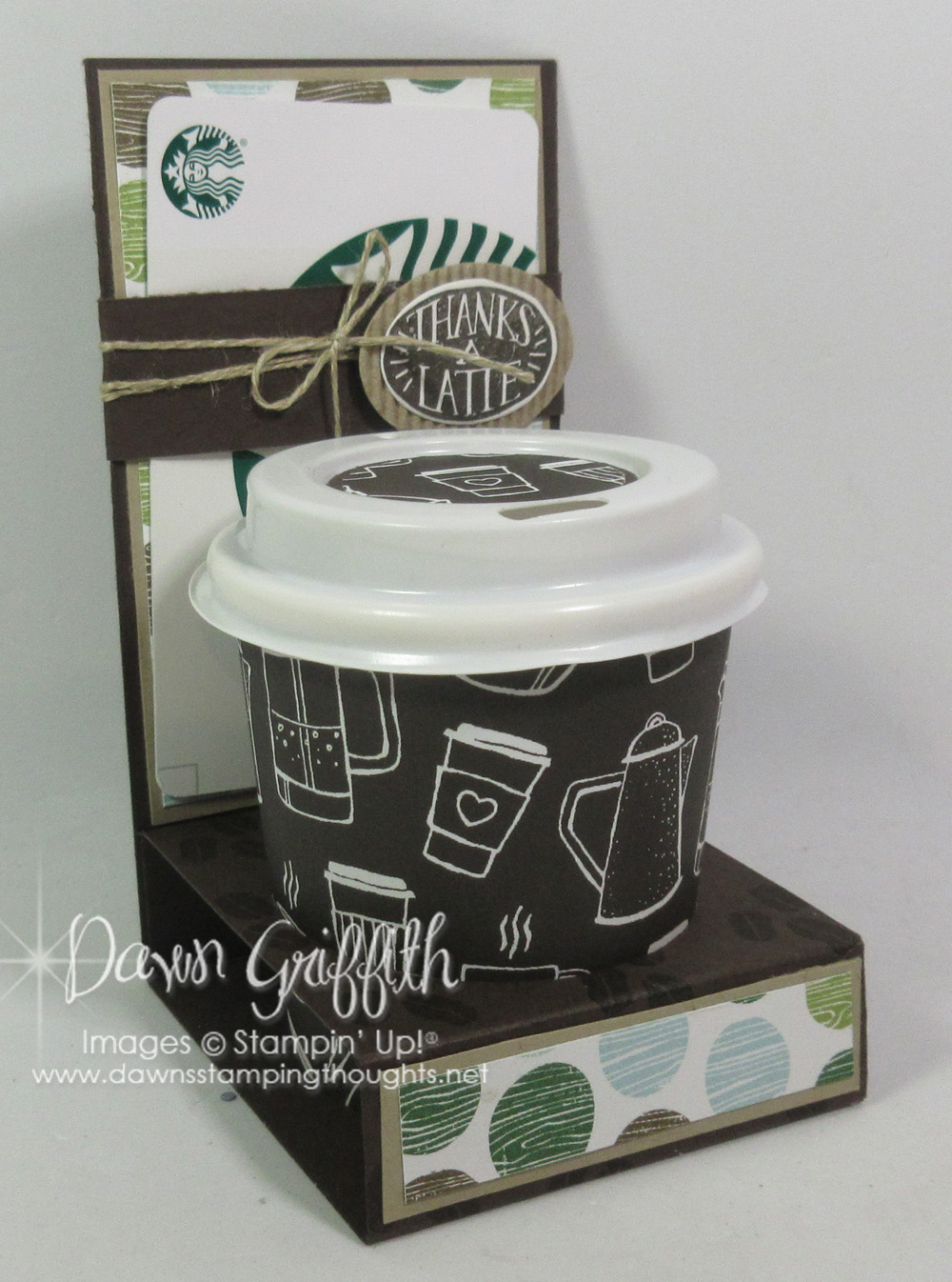 Mini Coffee Cup Amp Gift Card Holder Video Dawns Stamping