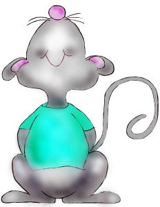 hickory dickory dock mouse looking up
