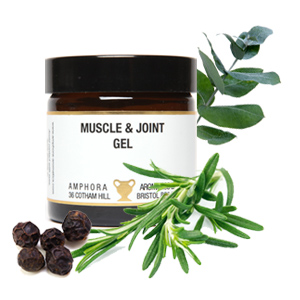 AMPHORA MUSCLE & JOINT GEL 60ML AMBER GLASS JAR 1