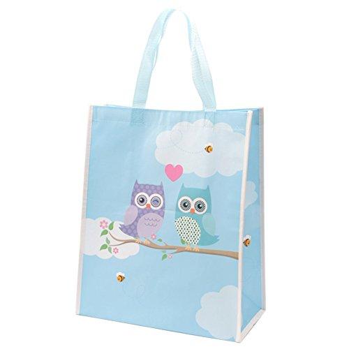 CUTE LOVE OWLS DESIGN DURABLE SHOPPING BAG 1