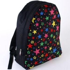 Multi-coloured stars backpack
