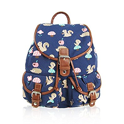 Critters Retro Rucksack Dark-Blue
