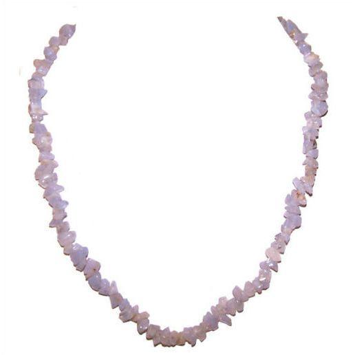 Blue Lace Chip Necklace
