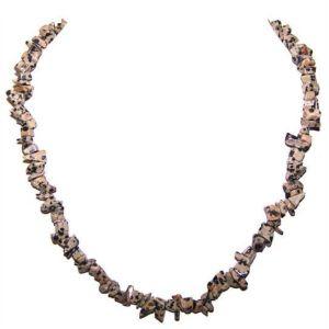 Dalmatian Jasper Chip Necklace